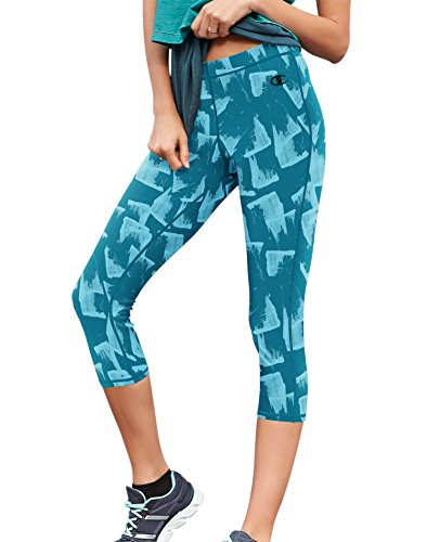 Champion Women's Go-To Workout Capri Legging, Granite Heather, Medium