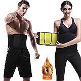 NHEIMA Bauchweggürtel Damen Herren für Gewichtsverlust, Fitness gürtel zur Fettverbrennung, Verstellbarer Neopren Sauna Bauchweggürtel, Bauch Schwitzgürtel zum Abnehmen Nach Geburt Saunagürtel