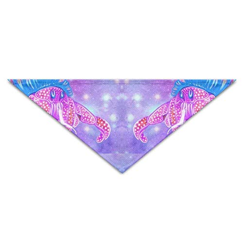 Hectwya Pet Bandanas Cute Dream Light Krabben PrintingHund Geburtstag Pet Bandana Halsbänder für Hunde und ()