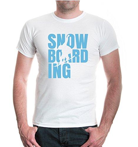 T-Shirt Snowboarding Type-XXXL-White-Skyblue (Forum Snowboard-t-shirt)