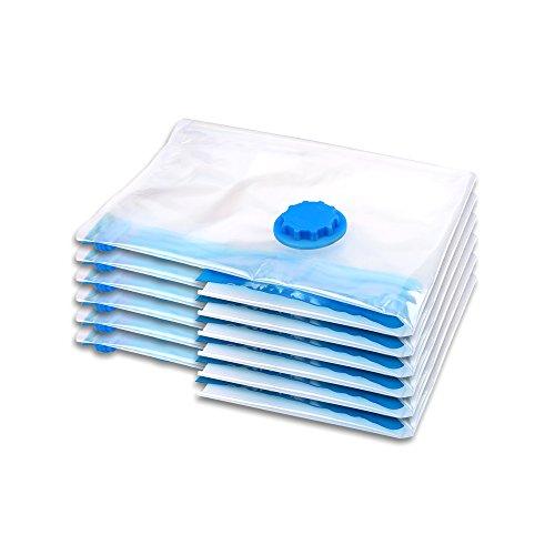 Schramm® 6 Stück Vakuumbeutel Aufbewahrungsbeutel 6er Pack 40x60cm Verstauungsbeutel Vakuum Beutel Kleiderbeutel