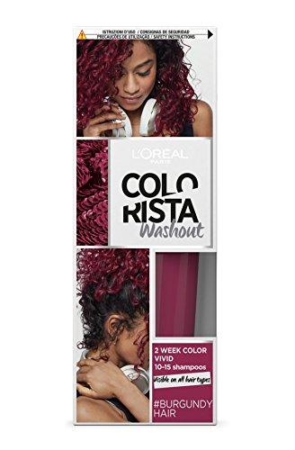 L'Oréal Paris Colorista Washout Vivid, Colorazione Temporanea 2 Settimane, Borgogna (Burgundy)
