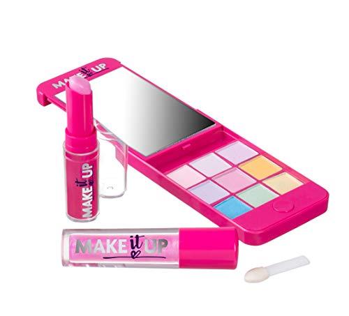 Make it Up Schminkpalette für Mädchen - in superschicker iPhone-Attrappe mit Spiegel - SICHERHEITSGEPRÜFT - UNGIFTIG