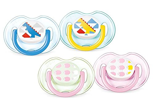 Preisvergleich Produktbild Avent 2 Orthodontal Silicone Classic Decorated Soothers 0-6M - Version : Girl