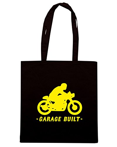 T-Shirtshock - Borsa Shopping OLDENG00505 garage built cafe racer Nero