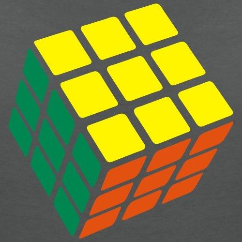 Rubik's Cube Original Classique Résolu T-shirt col V Femme de Spreadshirt® Charbon
