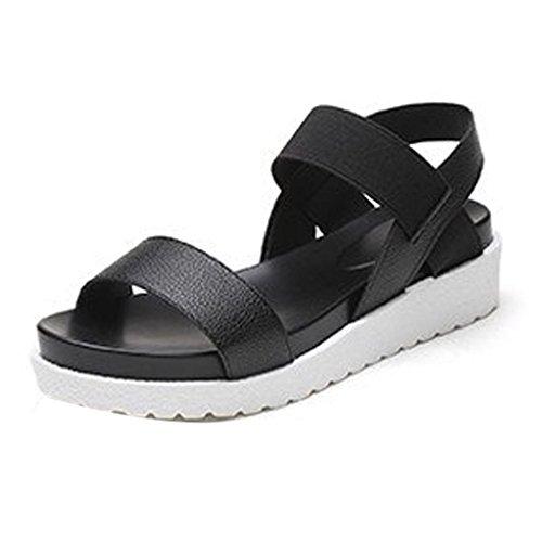 SamMoSon Pantofola Estate Sandali Scarpe Peep-Toe Basso Scarpe Romano Sandali Le Signore Pantofola Flip Flop Sandalo 35