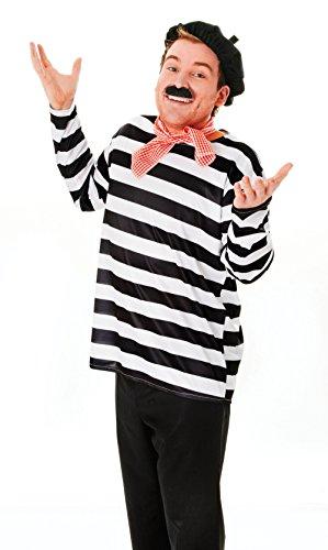 Franzose Set Kostüm für Frankreich Allo ZWEITER WELTKRIEG Kostüm Outfit Set - Weltkrieg Ein Kostüm