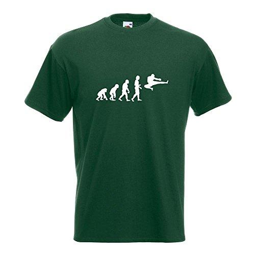KIWISTAR - Evolution Kampfsport Fight T-Shirt in 15 verschiedenen Farben - Herren Funshirt bedruckt Design Sprüche Spruch Motive Oberteil Baumwolle Print Größe S M L XL XXL Flaschengruen