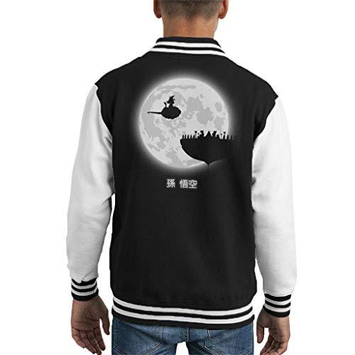 Dragon Ball Z Dont Look at The Full Moon Kid's Varsity Jacket