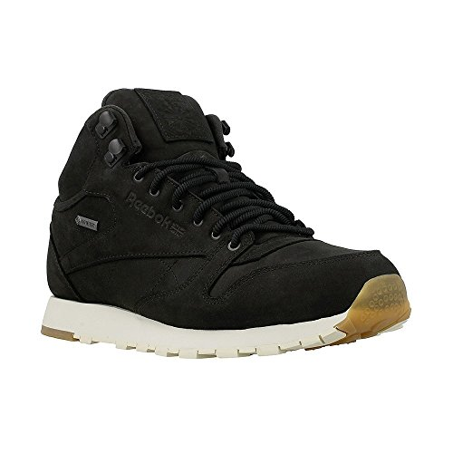 Reebok Classic Leather Mid GTX Thin - Black/Paperwhite/Gum - Men´s