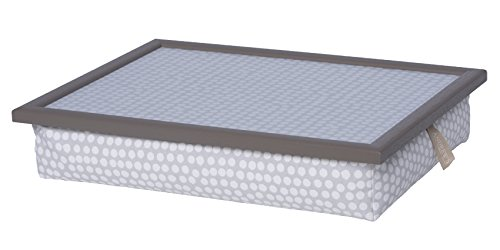 Andrew´s Knietablett Laptray mit Kissen Tablett für Laptop Elegant Spot Grey