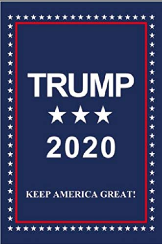 Jolly Jon Trump 2020 Keep America Great - 12 x 18 einseitige Gartenflagge - wetterfestes Polyester Outdoor Material - Donald Trump für die Flagge von Amerika Patriotische Yard Dekoration