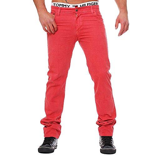 M239 Herren Chino Straight Jeans Denim Hose Designer Slim Fit Chinohose Rot