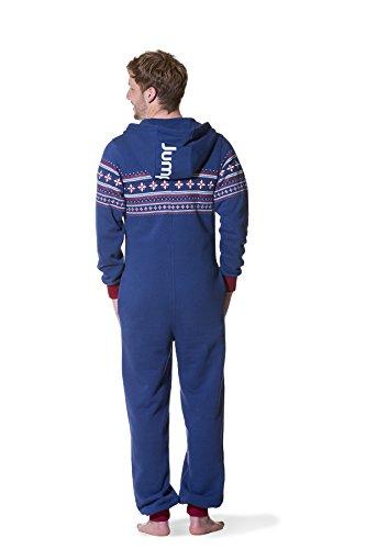 Jumpster Damen und Herren Jumpsuit Langer Overall Alpaka Regular Fit Blau M - 2