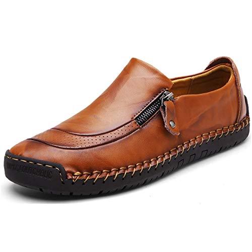 Mode Décontracté en Cuir Plat Mocassins Chaussures Bateau Sneaker Non-Slip Durable Respirant Mocassins