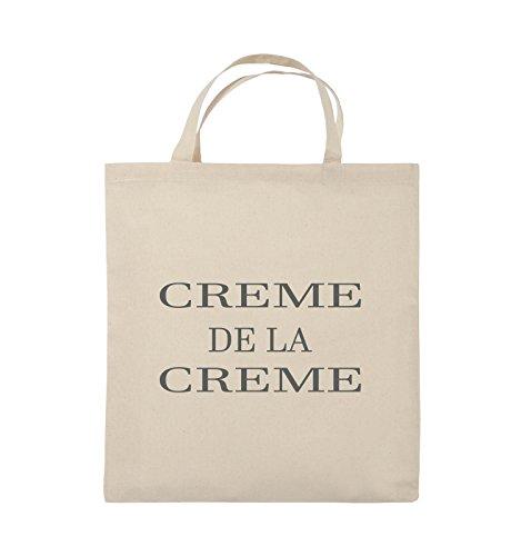 Buste Comedy - Creme De La Creme - Borsa In Juta - Manico Corto - 38x42cm - Colore: Nero / Argento Naturale / Grigio