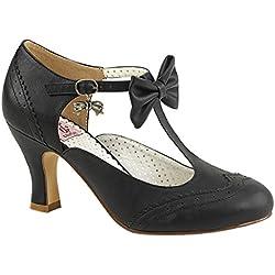 Pin Up Couture Spangen-Pumps Flapper-11 schwarz Gr. 40