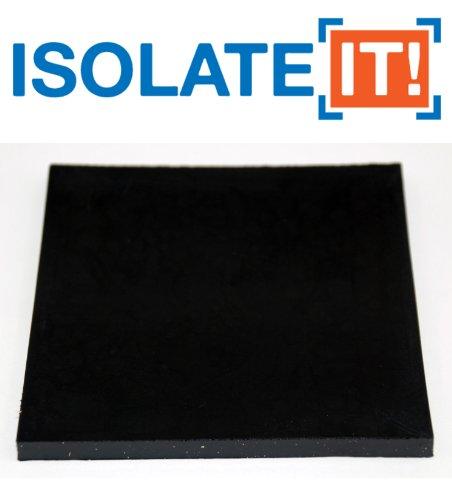 Vibrazioni, in Sorbothane isolamento quadrato blocco di 50Duro, 0,25
