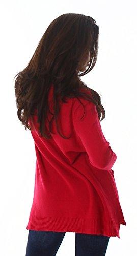 Voyelles - Pull - Femme Taille unique rose bonbon