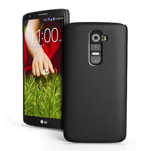 CUBIX Ultra Thin Rubberized Matte Hard Case Back Cover for LG G2 (Black)