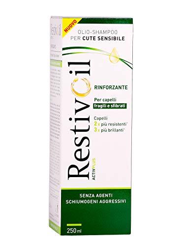 RestivOil Olio Shampoo per Cute Sensibile Formula Rinforzante per Capelli Fragili e Sfibrati senza Agenti Schiumogeni e Aggressivi 250 ml