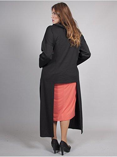 Vêtement Femme Grande Taille Tunique destructuree noire Multicolore
