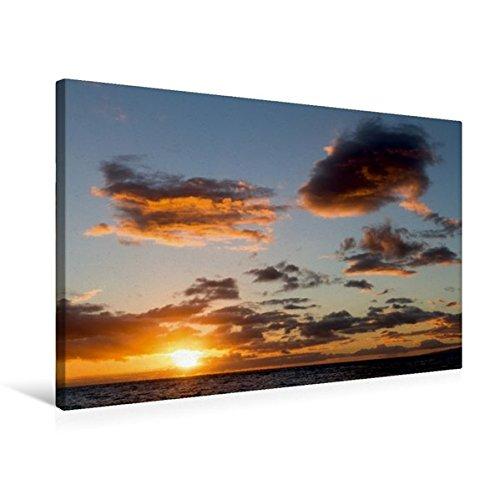 Calvendo Premium Textil-Leinwand 75 cm x 50 cm quer, Ulua Beach, Maui | Wandbild, Bild auf Keilrahmen, Fertigbild auf echter Leinwand, Leinwanddruck Orte Orte
