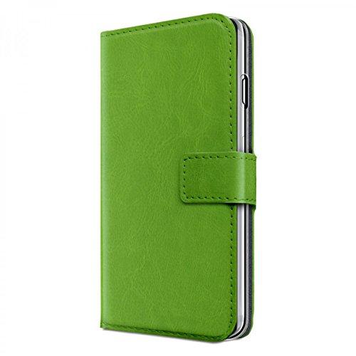 eFabrik Hülle für Apple iPhone 8 / iPhone 7 Tasche Schutzhülle Handy Schutztasche Cover Smartphone-Zubehör mit Aufsteller Kartenfächer Bookstyle Case , Farbe:Grün Grün