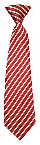 Kinderkrawatte Streifen Gestreift Schräg Krawatte Kinder Jungen Gummiband gebunden dehnbar Konfirmation (Dunkelrot Weiß) (Breite Streifen-krawatte)