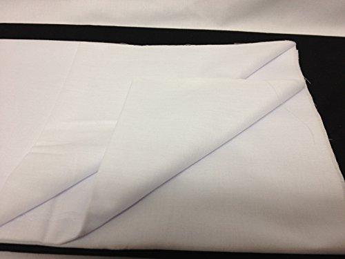 FIM Nessel zum Aufbügeln weiß , dicker Baumwollstoff, Stoff zum Aufbügeln, Breite 90cm, 92g/m², meterware