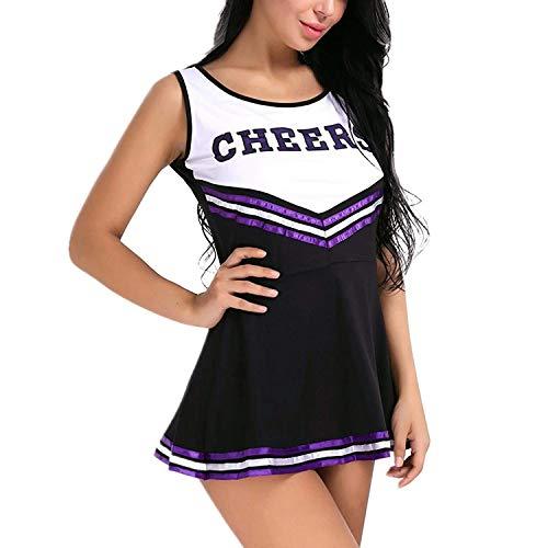 ZTie Damen Mädchen Cheerleader Kostüm Uniform Karneval Fasching -