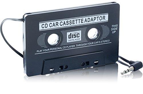 AUX Kassetten-Adapter | Einfach ihr Autoradio mit Kassetten Anschluss zur 3.5mm Klinke umwandeln | Autoradioadapter | für bspw iPod, iPhone, Discman, mp3-, CD-, MD- oder DAT-Player oder Smartphones - Adapter Für Ipod Kassette