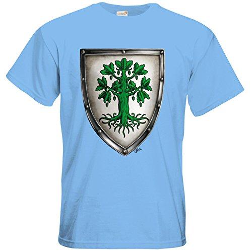 getshirts - Das Schwarze Auge - T-Shirt - Die streitenden Königreiche - Wappen Andergast L Sky Blue