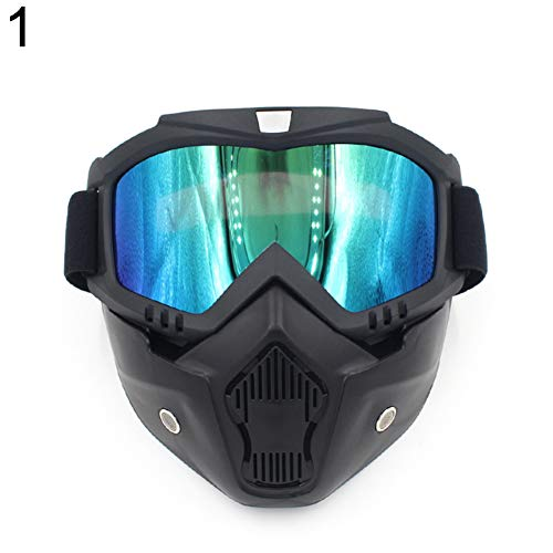 Terzsl Reparatur-Tool Motorrad Skibad Offene Gesichtsmaske Abnehmbare Brille Helmbrille Universal - 1#, Herren, 1#