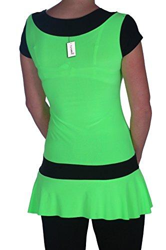 EyeCatch - Robe mini courte fluo - Eve - Femme Neon Vert