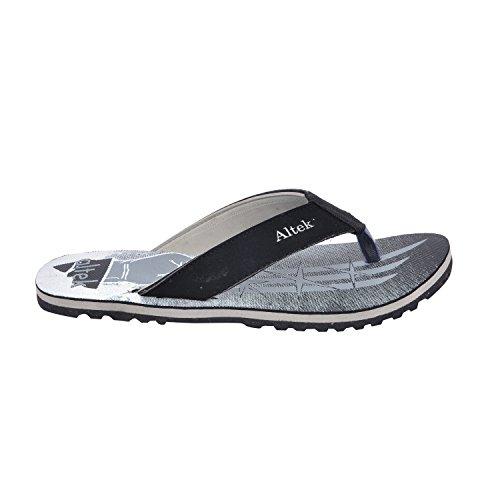 Altek Comfort Snaky Gray Flip Flop For Men