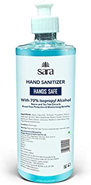SARA SOUL OF BEAUTY Instant Hand Sanitizer Germ Protection 70% Isopropyl Alcohol Sanitizing Gel Rinse-free Han