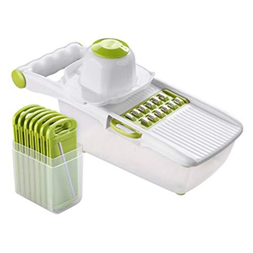 QXM Multifunktions-Shredder-Kartoffel-Shred-Artefakt-Gemüse-Scheibe-Artefakt-Abwischen-Küche-kreative Versorgungsmaterialien-Küchenwerkzeuge,Green