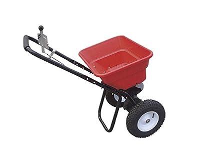Streuwagen 36 kg Premium | Multifunktioneller Universalstreuer für Saatgut, Dünger und Streusalz | Zentrifugalstreuer mit 36 kg Fassungsvermögen und 3 m Streubreite