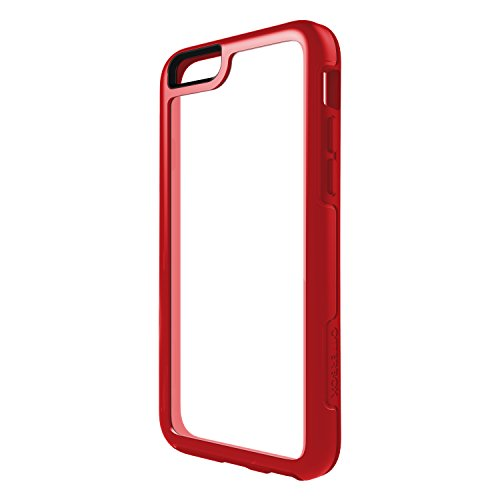 OtterBox Symmetry Series Schutzhülle für iPhone 6/6S (4,7-Zoll-Version), Scarlet Crystal (Clear/Scarlet RED), Standard Packaging -