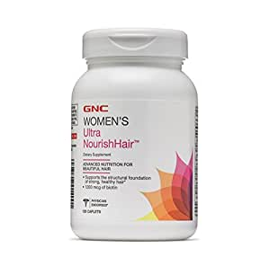 GNC Women's Ultra Nourish Hair with 1200 mcg of biotin - 120 Caplets