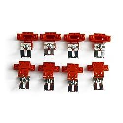 8er Set Montageklammern für Auflagespülen von SCHOCK / Klammern für Montage / Befestigungsklammern für Auflage - Spüle
