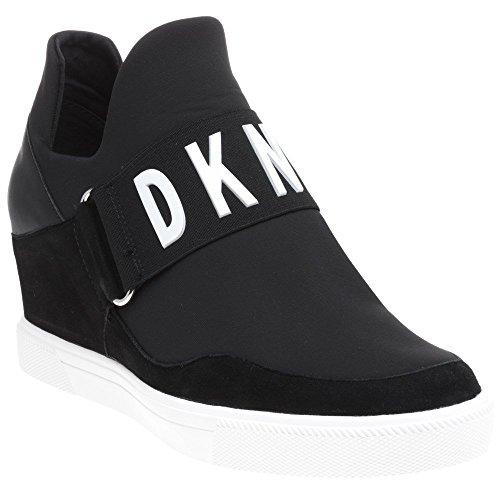 DKNY Cosmos Sneaker Wedge Femme Baskets Mode Noir