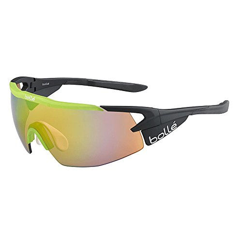 Bolle Aeromax Matte Black Translucent Green Sunglasses Frames - Frame Green Matte
