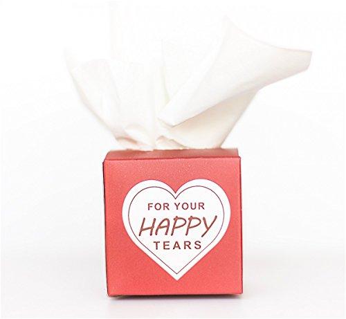 Marry & You Freudentränen 20er Set Geschenk-Verpackung für Hochzeit,Taschentücher Box