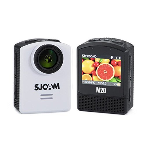 Develop 10 SJCAM M20 Action Cam Sport Camera 4K 24FPS Ultra HD Digital Video Camera Outdoor Waterproof Underwater Camcorder 16MP Mini NT96660 DSP IMX 117 WiFi 2 inch_White