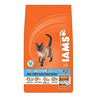 Iams Cat Food ProActive Health Adult With Wild Ocean Fish & Chicken 3 kg(pack of 3) 7