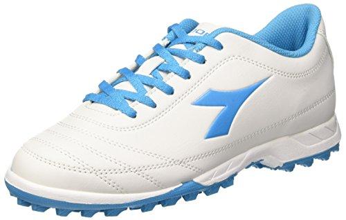 Diadora 650 Homens Iii Tf Para Sapatos De Treinamento De Futebol De Marfim (bianco / Blu Fluo)
