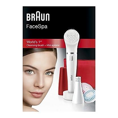 415bdX6yxoL. SS416  - Braun Face 852 Edición Rubí - Cepillo de limpieza facial eléctrico y depiladora facial, con 4 accesorios